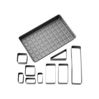 WILTON - Moule à gâteau chiffres/lettres en kit - 10 éléments