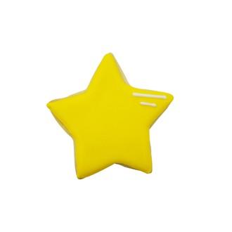 Emporte-pièce étoile jaune en métal revêtu 7cm