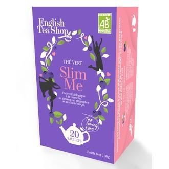 ENGLISH TEA SHOP - Slim me Thé vert biologique cannelle, ginseng, baies d'açaï boite 20 sachets