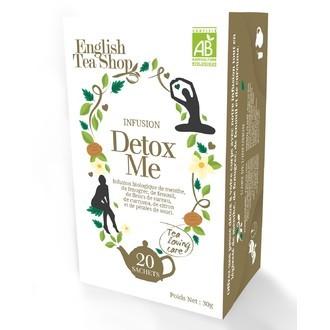 ENGLISH TEA SHOP - Detox me Infusion biologique de menthe, graines de fenouil, fleurs de sureau et zeste de citron boite 20 sachets
