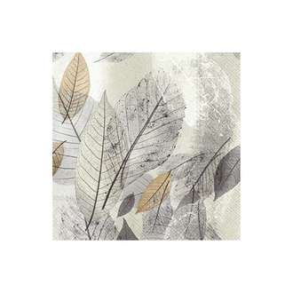 20 serviettes 33x33 cm francy fall grey
