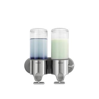 SIMPLEHUMAN - Distributeur de savon liquide double mural inox 2x444ml