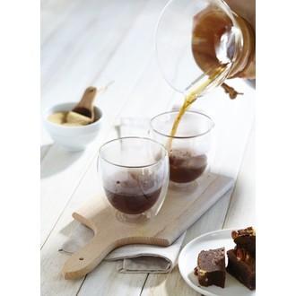 Bodum - 2 tasses à café en verre double paroi pavina 27cl