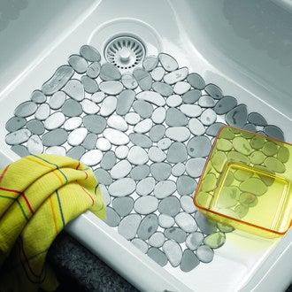 INTERDESIGN - Fond d'évier anti-dérapant en silicone graphite Pebble 27x30cm