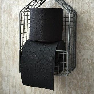 RENOVA - lot de 6 rouleaux de papier toilette noir