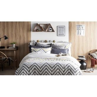 Maom - taie d'oreiller carrée en percale cendre 65x65cm