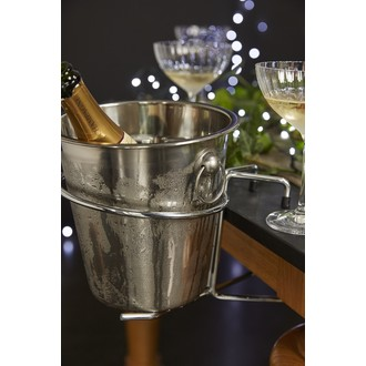Seau à champagne en inox 21cm