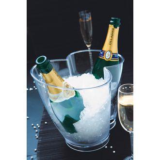 Seau à champagne deux bouteilles en acrylique