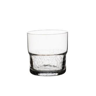 Verre à eau craquelé en verre transparent Module transparent 26cl