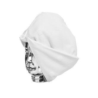Turban de sauna imprimé pois blanc Jacquard
