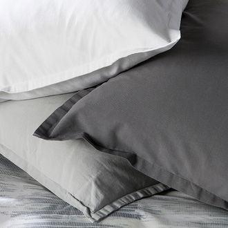 Maom - taie d'oreiller carrée en lin et coton lave gris 65x65cm