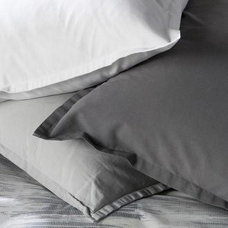 Maom - taie d'oreiller carrée en lin et coton lave blanc 65x65cm