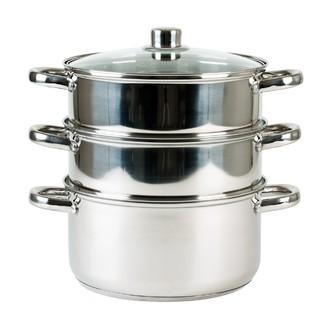 Cuit vapeur à 3 compartiments en inox 20cm