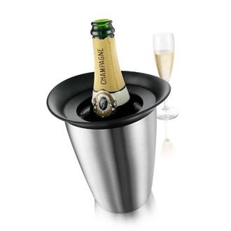 Seau champagne alu brossé 22,5 cm