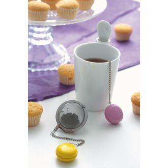 Boule à thé macaron colorée