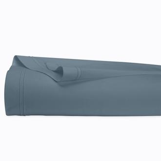 MAOM - Drap plat en percale bleu tempête 270x300cm