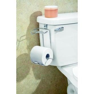 INTERDESIGN - Dérouleur pour papier toilette avec support pour 1 rouleau à suspendre chrome