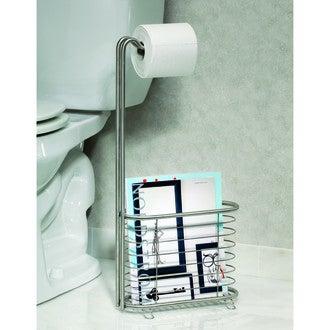 InterDesign valet de wc avec dérouleur et support magazine