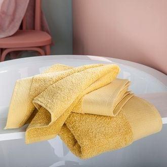 Serviette de douche bio jaune 70x140cm
