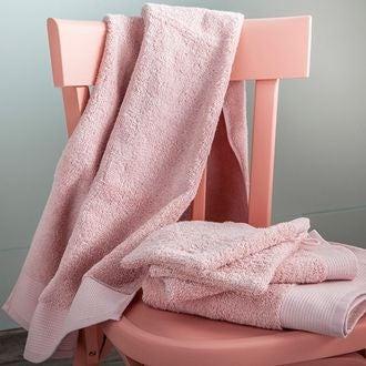 Gant de toilette en coton éponge biologique rose