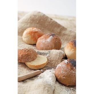 Kit pâtisserie moule 6 petits pains ronds croustillants en silicone noir
