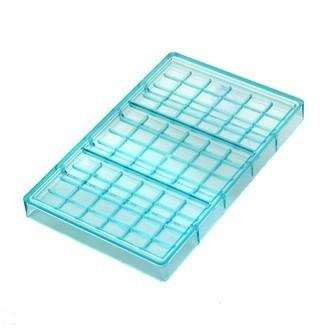 MAT FER - Moule à chocolats 3 tablettes en polycarbonate 100g 6x4cm