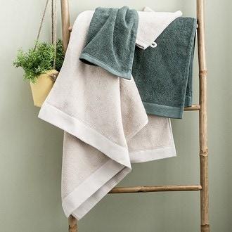 Maom - serviette invité en coton éponge pashmina 30x30cm