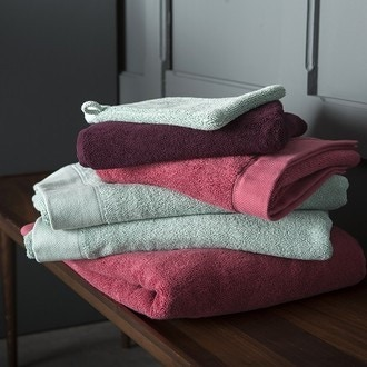 Maom - gant de toilette en coton éponge sauge