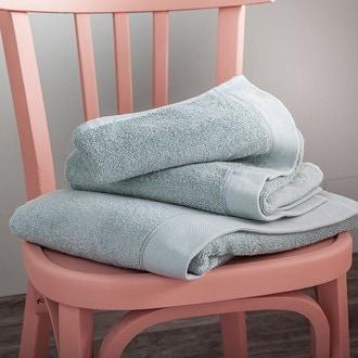 Maom - serviette de douche en coton éponge sauge 70x140cm