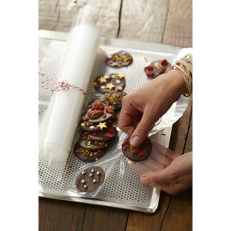 SCRAPCOOKING - Set de 10 feuilles guitare pour chocolat en polyéthylène 30x40cm