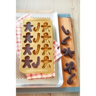 Moule pour chocolats en silicone bonhomme pain d'épice