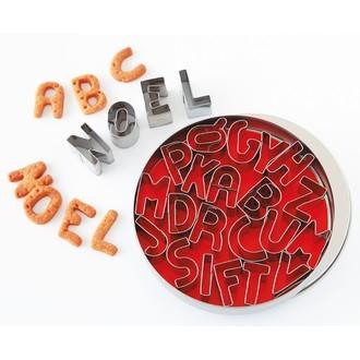 Set de 26 emporte-pièces alphabet en inox 2,5cm