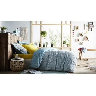 Zodio - taie d'oreiller carrée en coton moutarde 65x65cm