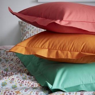 Zodio - taie d'oreiller carrée en coton potiron 65x65cm