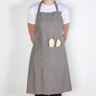 WINCKLER - Tablier de cuisine en coton gris Trend 80x102cm