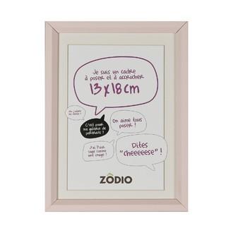 Zodio - cadre photo en bois blush 13x18cm