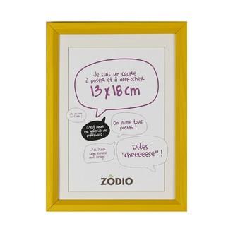 Zodio - cadre photo en bois moutarde 13x18cm