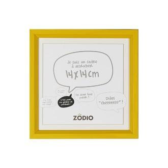 Zodio - cadre photo en bois moutarde 14x14cm