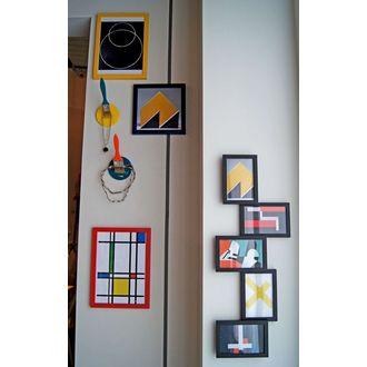 Zodio - cadre photo en bois moutarde18x24cm