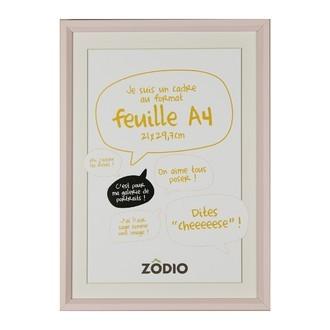 Zodio - cadre photo en bois blush 21x29,7cm