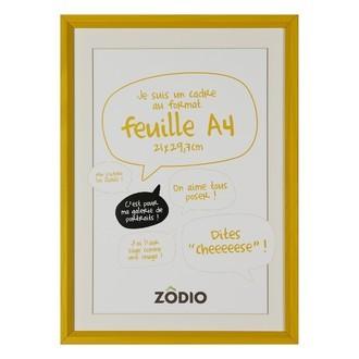 Zodio - cadre photo en bois moutarde 21x29,7cm