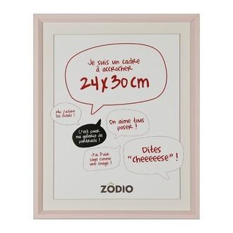 Zodio - cadre photo en bois blush 24x30cm