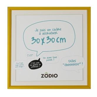 Zodio - cadre photo en bois moutarde 30x30cm