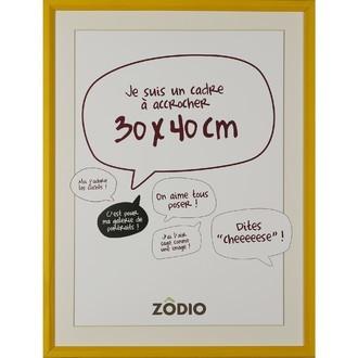 Zodio - cadre photo en bois moutarde 30x40cm