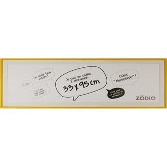 Zodio - cadre photo en bois moutarde 33x95cm