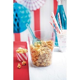 Pot à pop corn en plastique transparent
