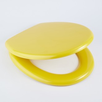 ZODIO - Abattant pour wc declipsable moutarde