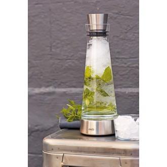 Carafe en verre avec bloc refroidissant en inox 1l