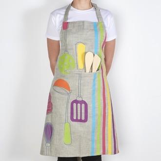 WINCKLER - Tablier de cuisine en coton gris Chama 80x85cm