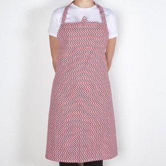 ZODIO - Tablier de cuisine imprimé pois cranberry